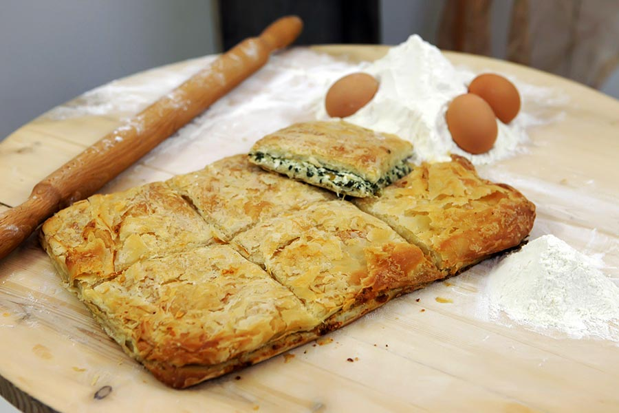 Greek-dishes-Hand-made-spinach-pie