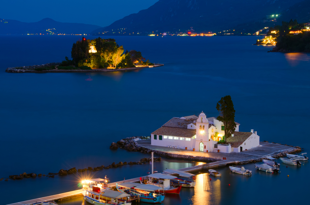 "Sights of Corfu - The popular ""Pontikonisi"""