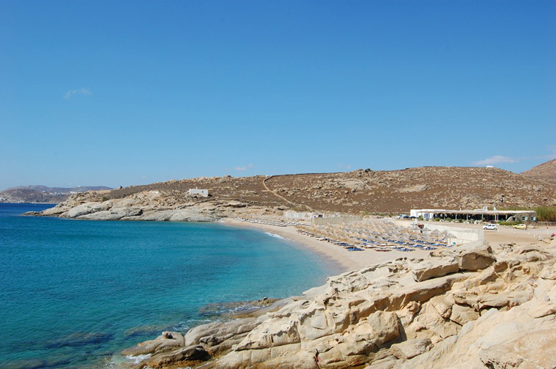 Lia, one of the quietest beaches in Mykonos