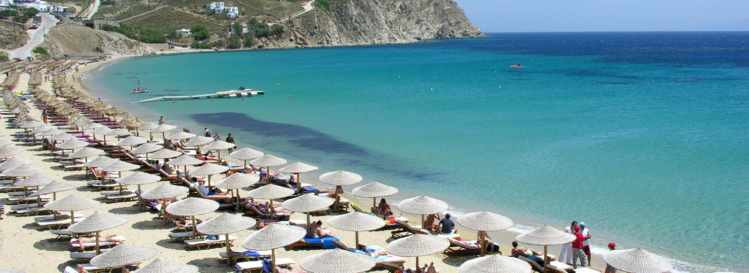 how to get to paradise beach from psarou mykonos