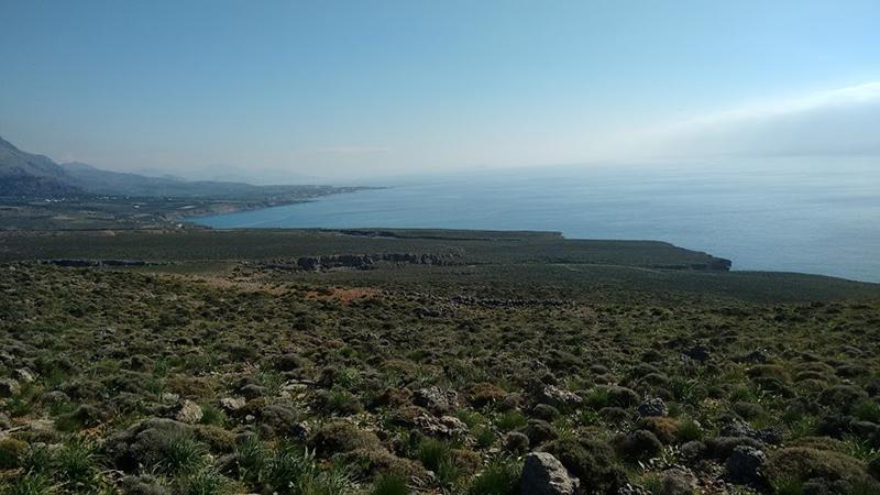 Sunny winter day at Fragkokastello, South Crete