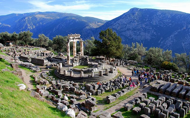 The Temple Of Athena Pronaia - Delphi, Greece