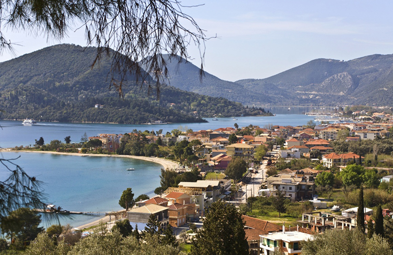 The tourist resort of Nidri in Lefkada