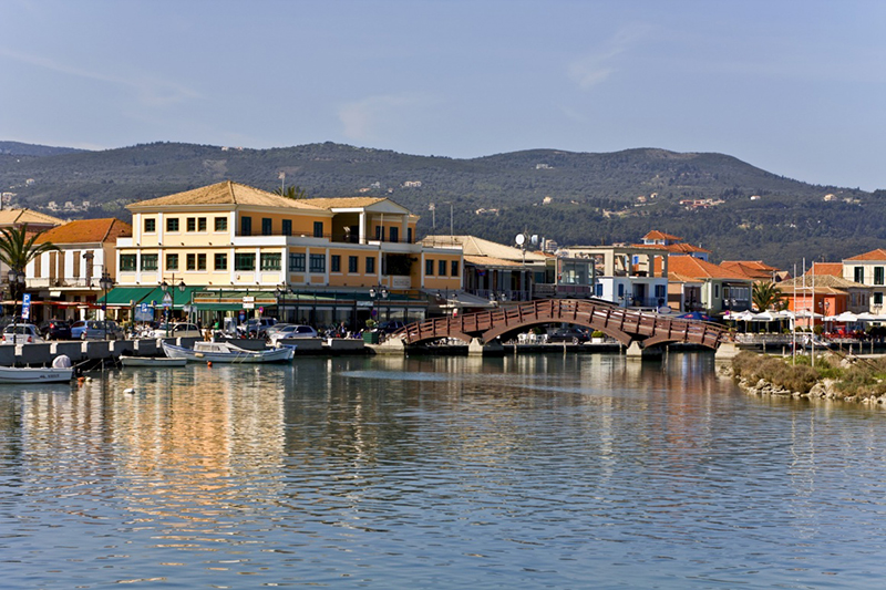 Port of Lefkada island