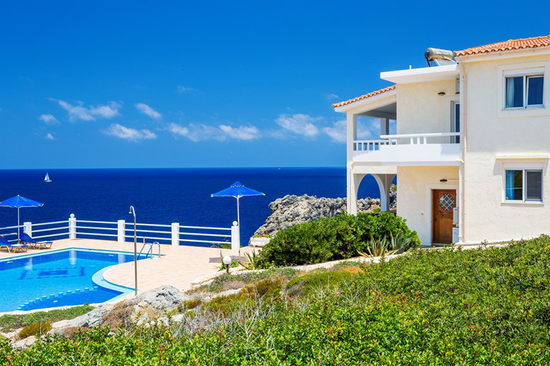 Luxury 2 villas complex over Stavros bay for 20 adults
