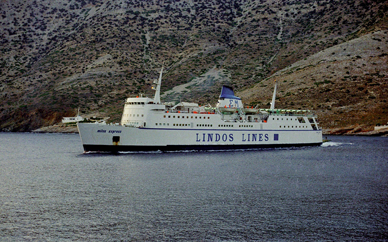 The ferry to Milos - Cyclades