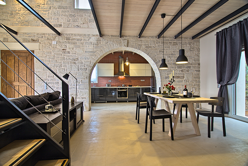 Unique industrial style luxury villa in Kalami, Crete