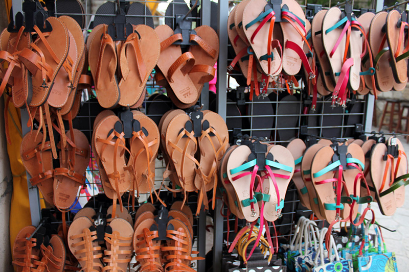 greek sandals -Greek souvenirs