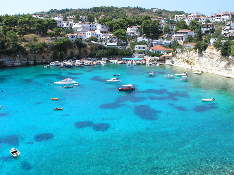 Alonisos port in Sporades, Greece