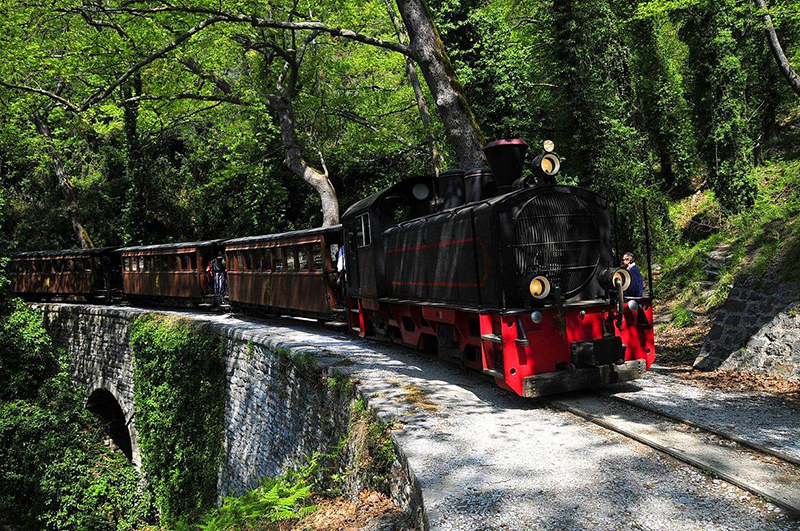 Moutzouris Train in Pelion