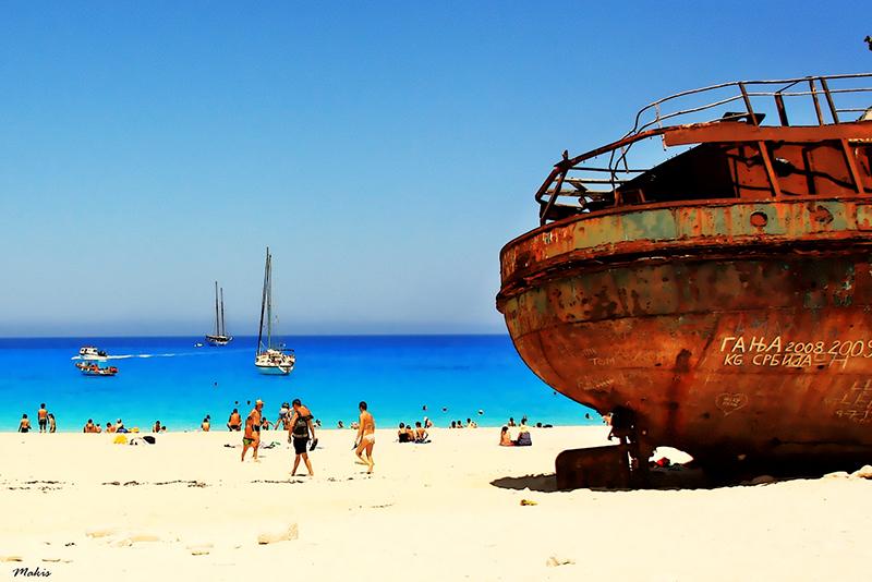 Navagio beach in Zakynthos