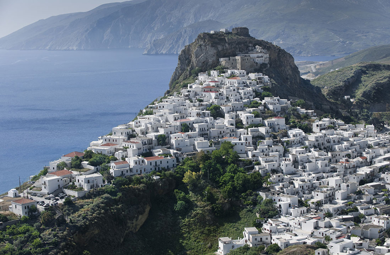 White-washed houses in Skyros