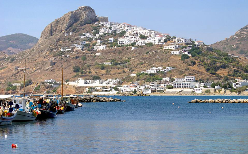 The port in Skyros - Sporades, Greece