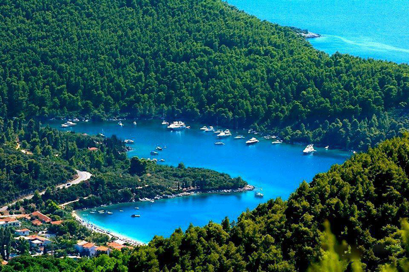 The green Skopelos island in Sporades