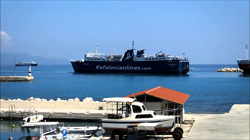 The ferry in Kefalonia
