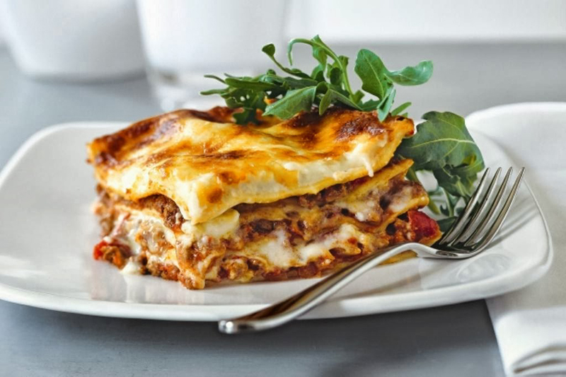 Mousaka - Traditional dish in the Ionian islands