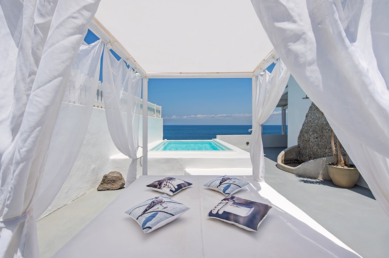Sail house in Santorini