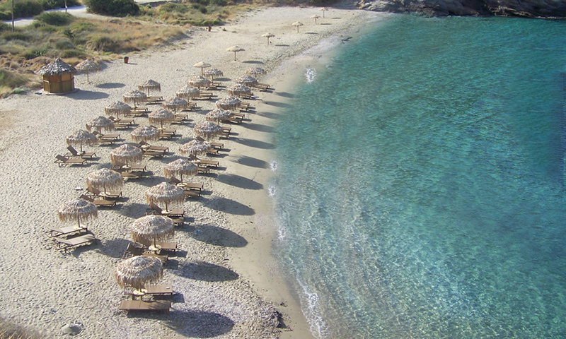 Koundouros beach in Kea