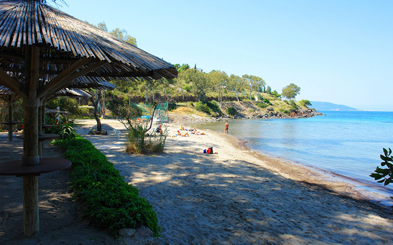 Secluded beach in Aegina
