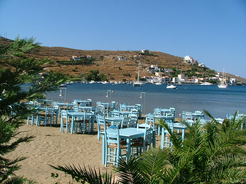 The seaside resort Vourkari in Kea