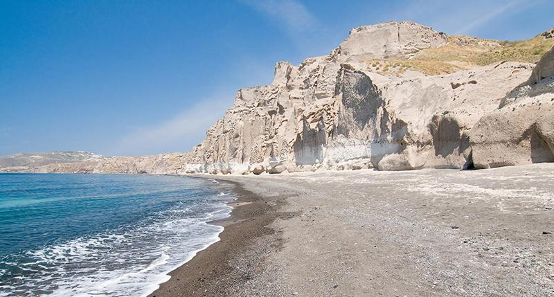 White beach in Santorini