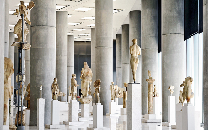 The Archaic Gallery in Acropolis Museum