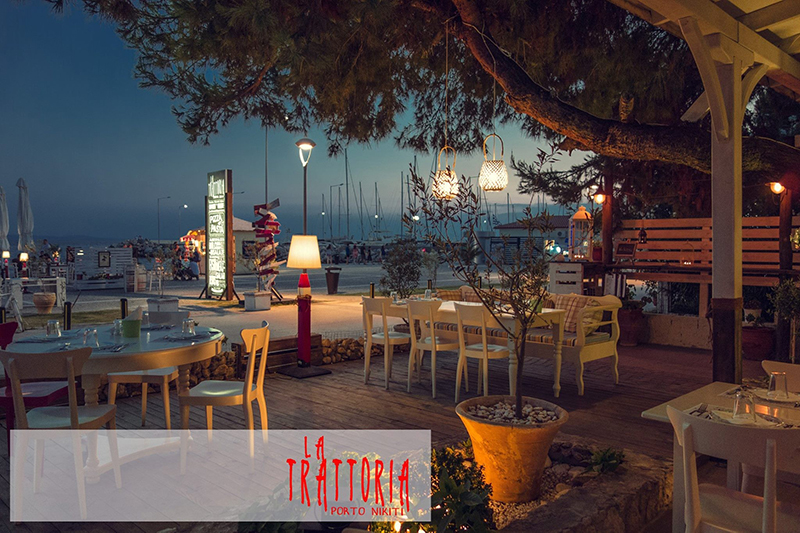 Feel the romantic mood at La Trattoria Italian restaurant