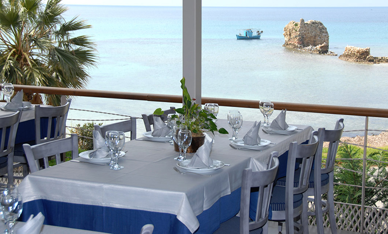 Enjoy Greek seafood dishes at Marina sea food restaurant