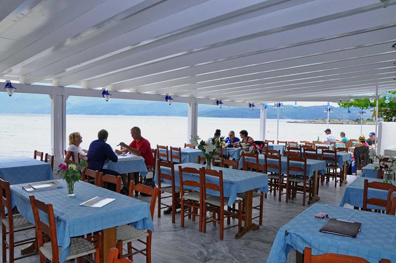 Poseidon restaurant in Samos