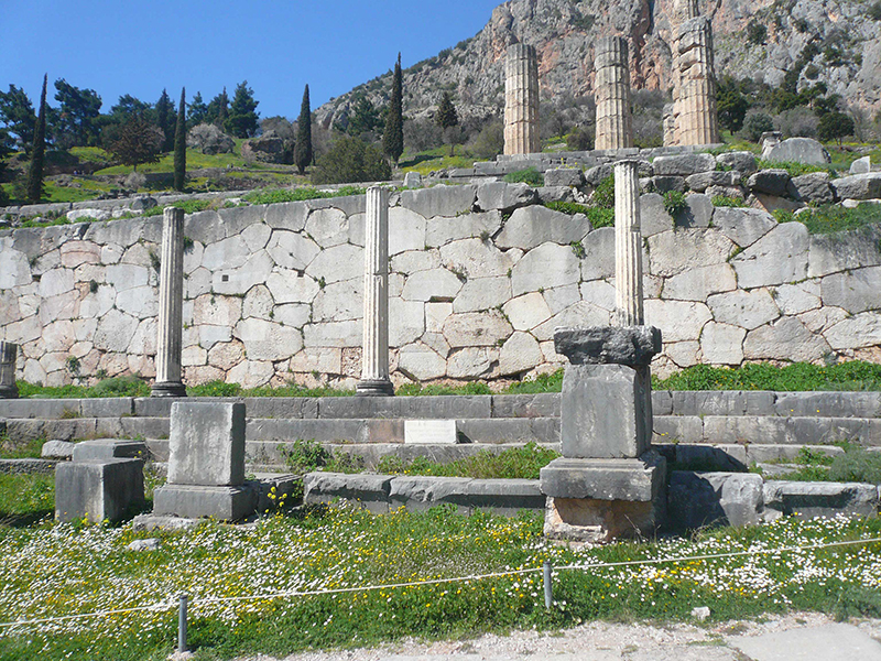 The Stoa of the Athenians - Delphi Archaeological Site