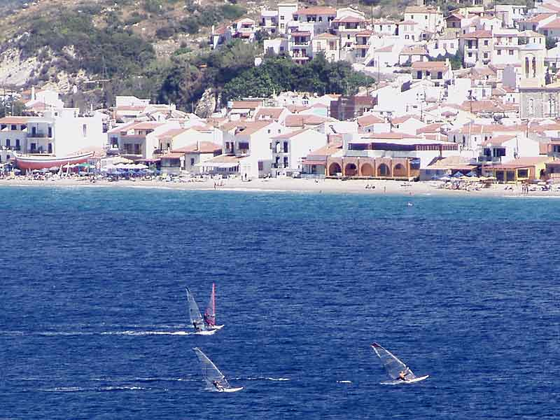 Wind surfing in Samos