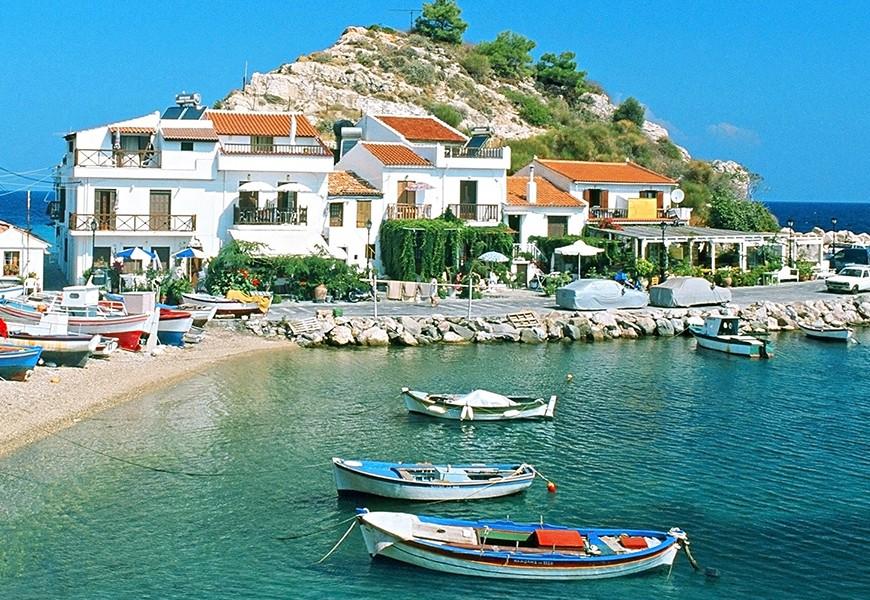 Samos island in Greece