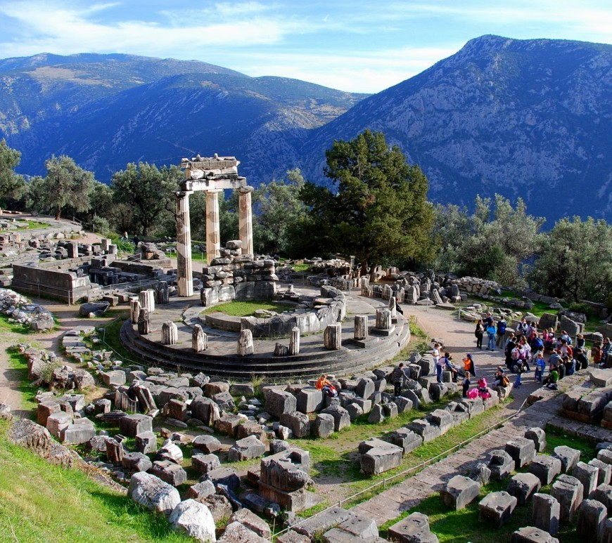 Delphi Archaeological Site - The Navel Of Earth In Greece