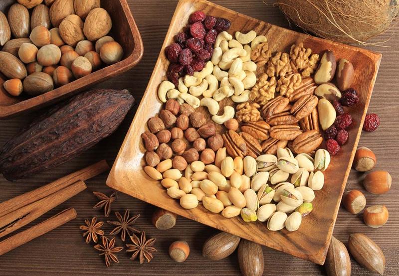 Nuts - Mediterranean cuisine in Greece