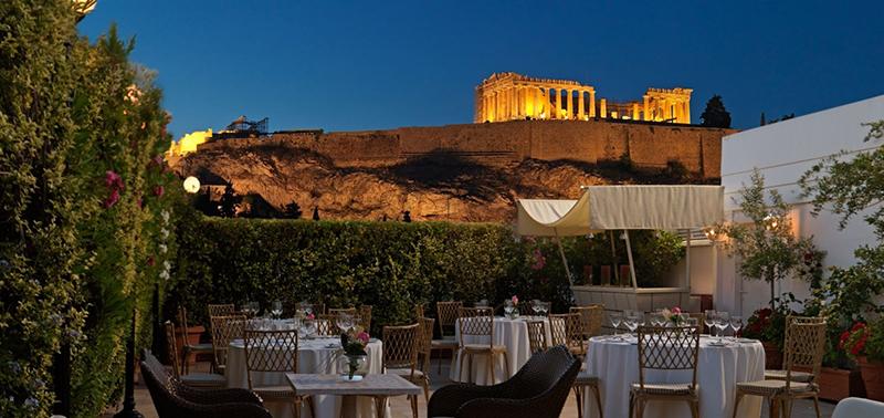 The restaurant in Acropolis Museum