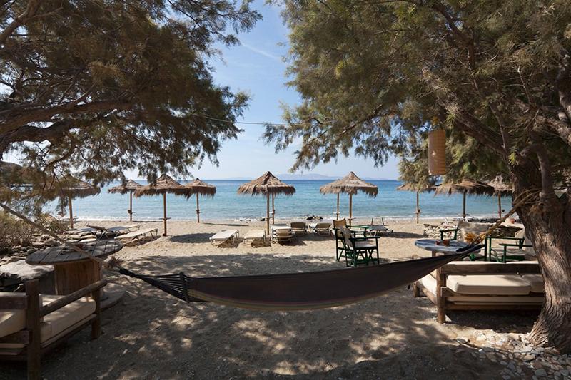 Kalivia beach in Tinos, Greece