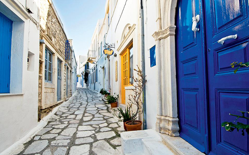 Pyrgos village in Tinos island