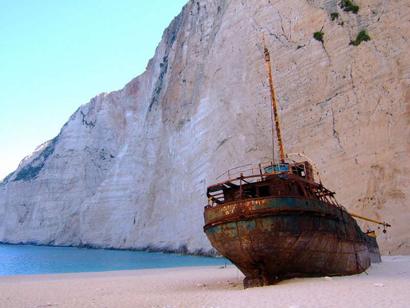 Shipwreck on Navagio beach - Zakynthos holidays