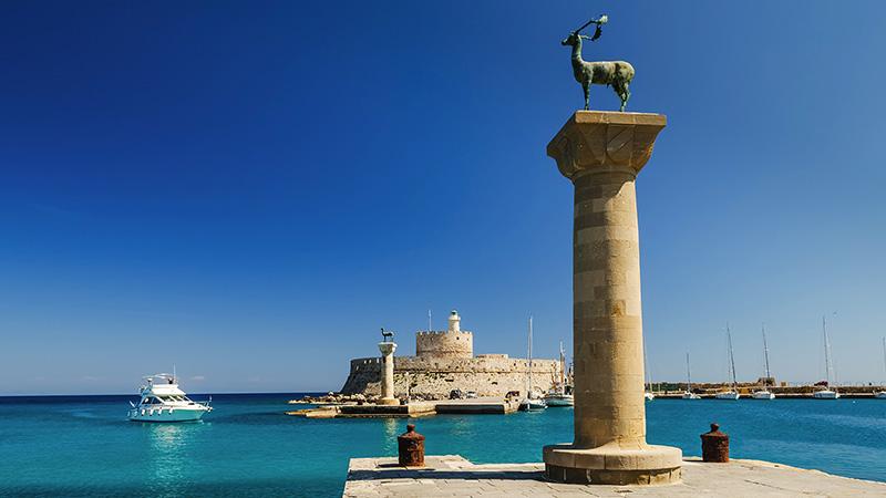The Colossus of Rhodes in Mandraki