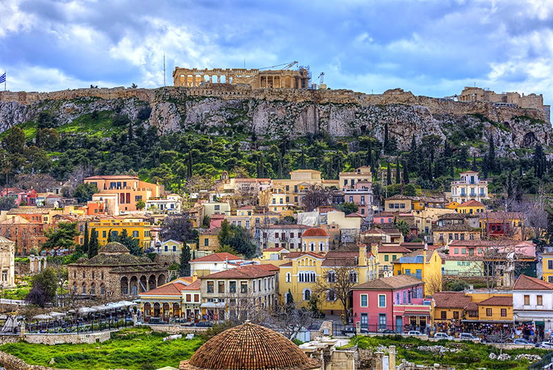 Athens walking tour: Plaka under Acropolis