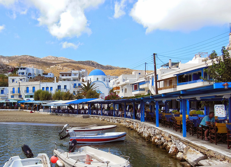 The picturesque Apollonas village - Naxos