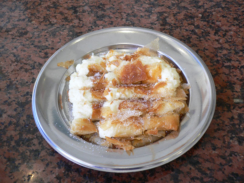 Greek desserts and sweets - Mpougatsa